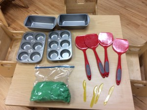 I cooked playdoh and bought some playdoh tools for each classroom.