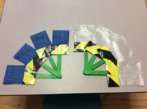 Each classroom received these and more paintbrushes that I made with the center's materials.